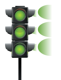 Feux de circulation vert