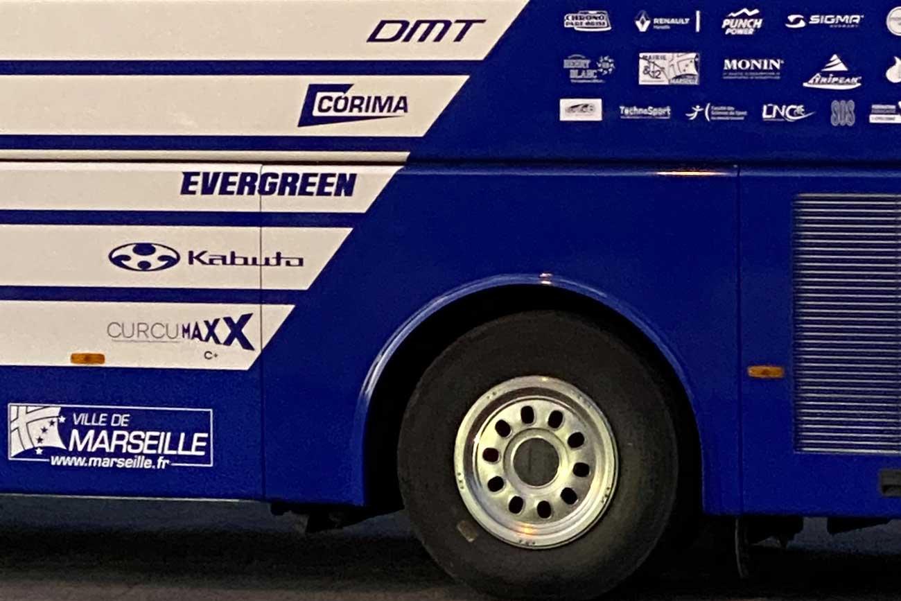 Sponsoring CURCUMAXX -equipe Nippa Delko One Provence BUS